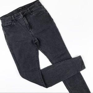 Joe's Jeans Faded Black High Rise Skinny Jeans